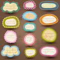 Vintage style labels colorful set Stock Photography
