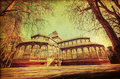 Vintage Style Picture Of The Crystal Palace In Madrid