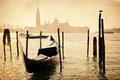 Vintage style picture of the lagoon of Venice Royalty Free Stock Photo
