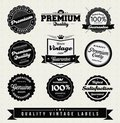 Vintage Style Premium Quality Labels Royalty Free Stock Image