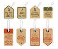 Vintage style sale tags design vector illustration Stock Photos