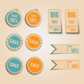 Vintage style sale tags design vector illustration Royalty Free Stock Photography