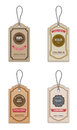 Vintage style sale tags vector Royalty Free Stock Photos