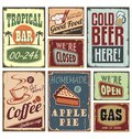 Vintage style signs Stock Photos