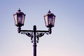 Vintage style street light in moscow kremlin is a popular touristic landmark unesco world heritage site Stock Photo