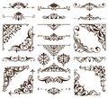 Vintage style wallpaper damask art nouveau ornaments floral design elements seamless texture colored background Royalty Free Stock Photo