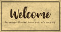 Vintage Style Welcome Banner