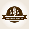 Vintage style wheat label. Vector logo design template. Organic Royalty Free Stock Photo