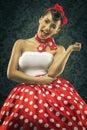 Vintage Style - Woman Smiles I...