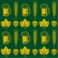 Vintage styled beer seamless pattern Royalty Free Stock Photo