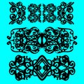 Vintage styled calligraphic flourishes