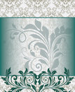 Vintage styled card with floral ornament background Stock Photo