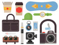 Vintage styled design hipster icons vector signs and symbols templates gadgets element and other things illustration.
