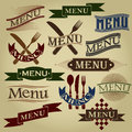 Vintage styled menu calligraphic designs Royalty Free Stock Image