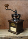 Vintage styled of old coffee grinder Royalty Free Stock Photography