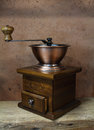 Vintage styled of old coffee grinder Royalty Free Stock Photo