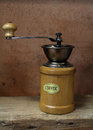 Vintage styled of old coffee grinder Royalty Free Stock Photos