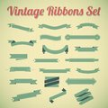 Vintage styled ribbons collection. Royalty Free Stock Photo