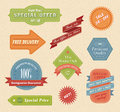 Vintage stylish vector patches ribbons labels Royalty Free Stock Photos