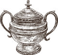 Vintage sugar bowl Royalty Free Stock Photography