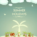 Vintage summer holidays modern design Royalty Free Stock Photo