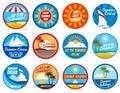 Vintage Summer Labels. Tropica...