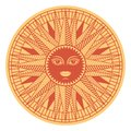 Vintage sun face compass rose Royalty Free Stock Photo