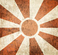 Vintage sunbeams design background poster of multiple orange on grunge cement Royalty Free Stock Photography