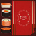 Vintage Sushi Menu Royalty Free Stock Photography