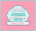 Donut, ice cream and lolly banner, background