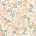 Vintage swirls seamless pattern with grunge effect eps Royalty Free Stock Photos