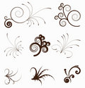 Vintage swirly elements for design. Royalty Free Stock Photo