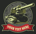 Vintage t shirt design with cannon Royalty Free Stock Image