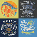 Vintage T-shirt Graphic Set 1 Royalty Free Stock Photo