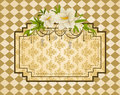 Vintage tapestry background. Royalty Free Stock Image