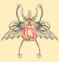 Vintage Tattoo Beetle Royalty Free Stock Photo