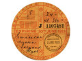 Vintage Tax Disc Royalty Free Stock Photos