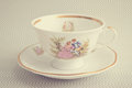 Vintage tea cup antique Stock Photography