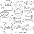 Vintage Tea Design Elements Royalty Free Stock Image