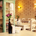 Vintage tea house Stock Photo