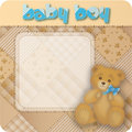 Vintage teddybear baby Royalty Free Stock Photos
