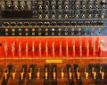 Vintage telephone switchboard Royalty Free Stock Photo