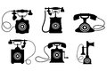 Vintage telephones Royalty Free Stock Photos