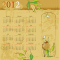 Vintage template for calendar 2012 Royalty Free Stock Photo