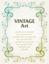 Vintage template frame Royalty Free Stock Photography