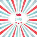Vintage template for th of july with frame stars and lines Stock Images