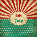 Vintage template for th of july with stars and lines Stock Images