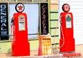 Vintage Texaco gas pumps Royalty Free Stock Photo