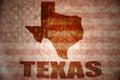 Vintage texas map Royalty Free Stock Photo