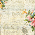Vintage Text Background with Floral frame Stock Photography